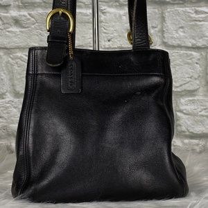 *VINTAGE* Coach Waverly Black Tote USA Made